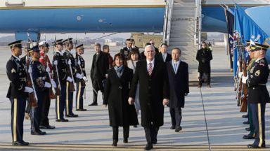 Pence bashes North Korea's military parade, endorses Trump's parade