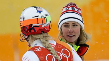 Lindsey Vonn misses gate in final Olympics race as Mikaela Shiffrin rallies for silver
