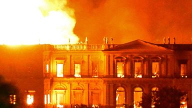 Brazil suffers incalculable loss after a massive fire engulfs its 200-year-old National Museum