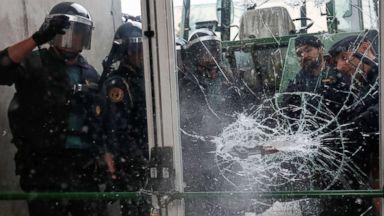 Hundreds injured in Catalonia as Spanish police crack down on referendum