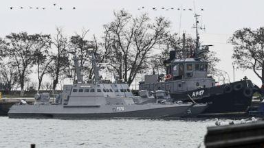 Russia releases videos of sailors from Ukrainian ships seized near Crimea