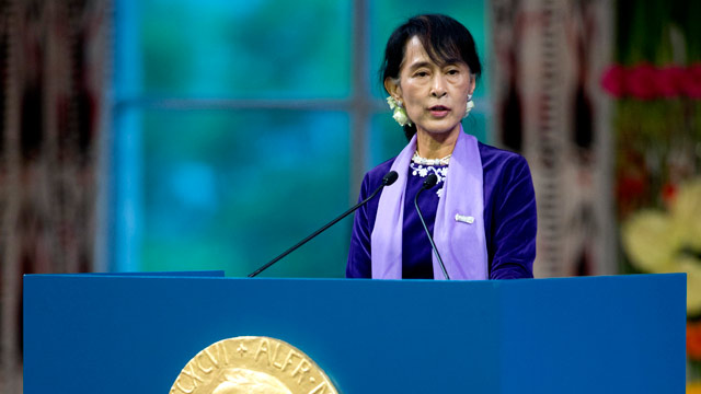 Image result for aung san suu kyi nobel peace prize
