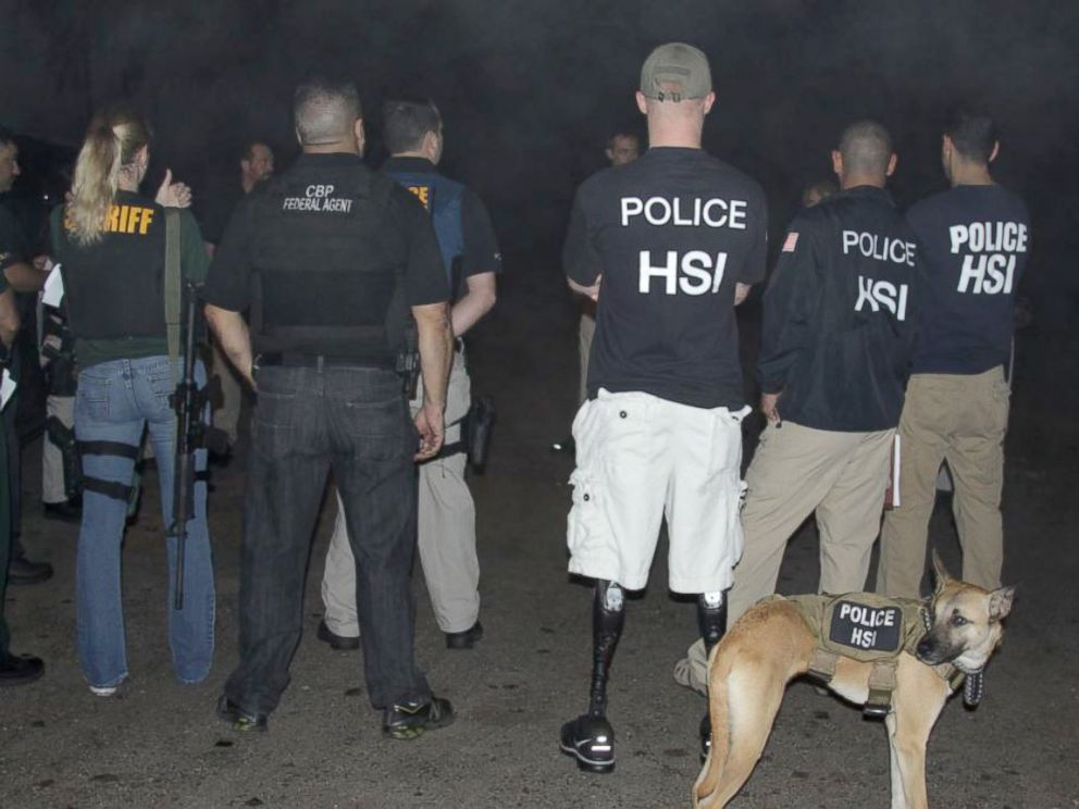 PHOTO: The Homeland Security Investigations team executes a search warrant with local and federal law enforcement.