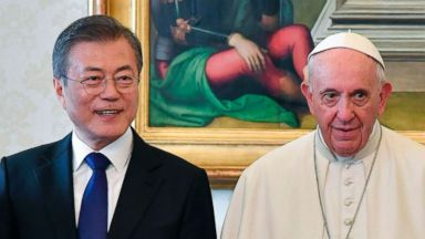 South Korean president shares invitation to North Korea with Pope Francis