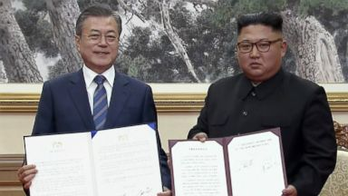 Moon, Kim sign agreement for North Korea to take further steps to denuclearize