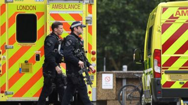 Terror suspect crashes car into cyclists and barrier at British Parliament