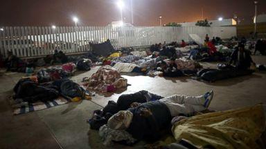 Caravan of migrants reaches US border, temporarily turned away by Border Patrol