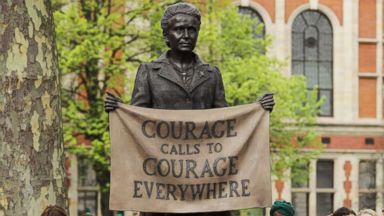 1st statue of woman on London's Parliament Square unveiled