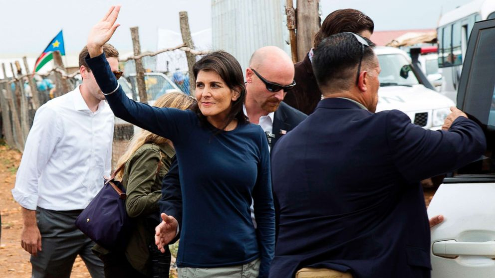 Nikki Haley cuts short visit to South Sudan camp after ...