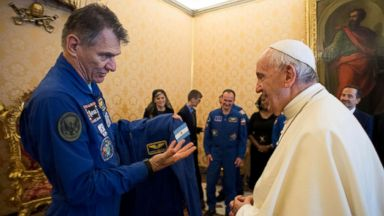 Pope Francis gets his own bespoke space suit so he can 'go flying'