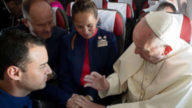 Pope performs 'unexpected' wedding on a plane in Chile