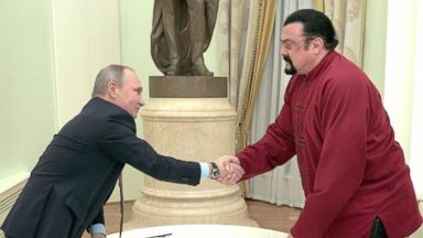 Russia makes action star Steven Seagal a special humanitarian envoy to the US