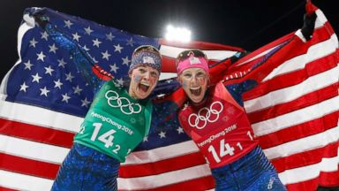 Only mom on Team USA shares historic Olympic gold in cross-country event