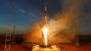 First manned Soyuz rocket since October accident takes off