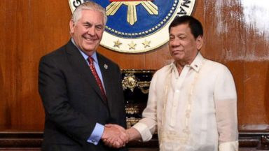 Duterte dismisses human rights concerns after meeting Tillerson