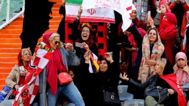 In a first for Iran, hundreds of women attend a major soccer match in Tehran