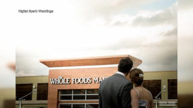 Foodie couple says 'I do' at Whole Foods 'dairy-tale wedding'