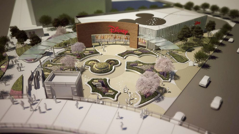 PHOTO: Artist impression: aerial view of the proposed Disney Store, Shanghai.