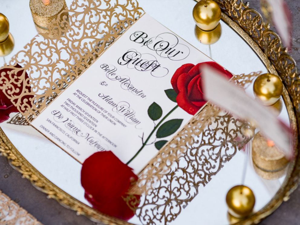 Beauty And The Beast Themed Wedding Invitations: Enchanting 'Beauty And The Beast' Wedding Shoot Will