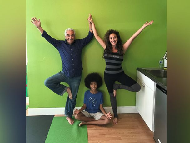 PHOTO: Tabay Atkins, 11, of San Clemente, California, is a yoga instructor at his familys yoga studio.