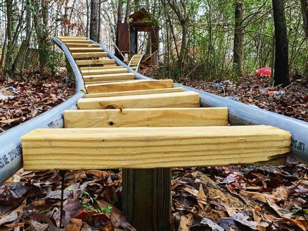 Georgia teen builds custom backyard roller coaster over 5 ...