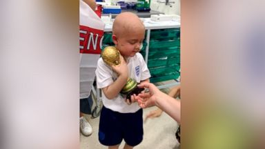 5-year-old with brain cancer receives his very own World Cup after completing radiation treatment