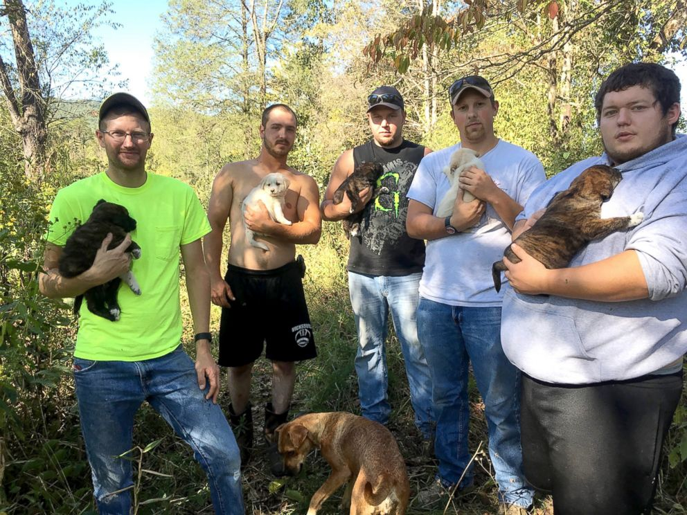 FOTO: Questi uomini ci aspettavamo si aspettano di essere la cura per i cuccioli quando hanno lasciato per i boschi in Tennessee per una festa di laurea.