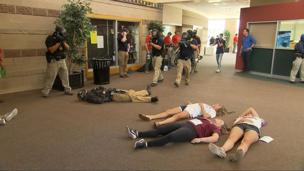 Police Practice Active Shooting Drill At Colorado High
