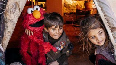 Sesame Street visits children at Jordan refugee camp