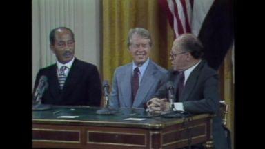 Sept. 17, 1978: Sadat, Begin sign the Camp David Accords at the White House