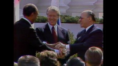 March 26, 1979: Begin, Sadat sign the Egypt-Israel peace treaty at the White House