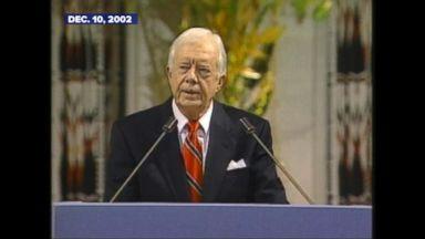 Dec. 10, 2002: Jimmy Carter accepts Nobel Peace Prize
