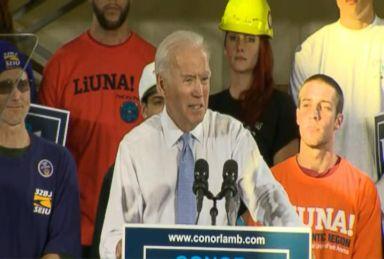 Joe Biden campaigns with Democrat Conor Lamb in Pa. special election