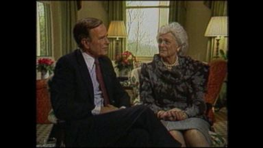 George and Barbara Bush talk personality traits