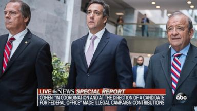 Michael Cohen pleads guilty to 8 counts, including campaign finance violations