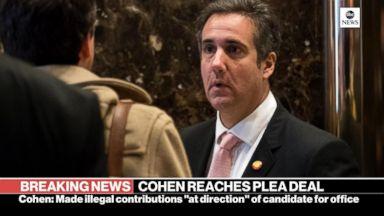Cohen enters plea deal