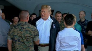 Trump visits the Carolinas to witness aftermath of Hurricane Florence