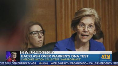 Backlash over Elizabeth Warren's DNA test