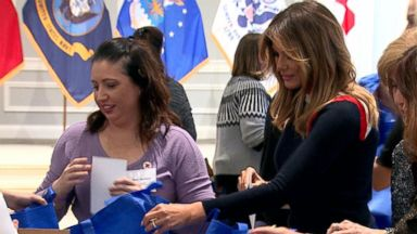 Melania Trump puts together care packages for U.S. troops