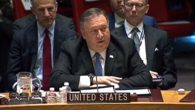 Alone at UN, Pompeo blasts Iran nuclear deal, but urges action on Iran missile threat