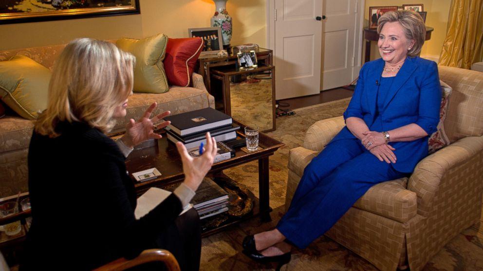 PHOTO: ABC News Diane Sawyer interviews former Secretary of State Hillary Clinton in Washington, D.C. on June 5, 2014.