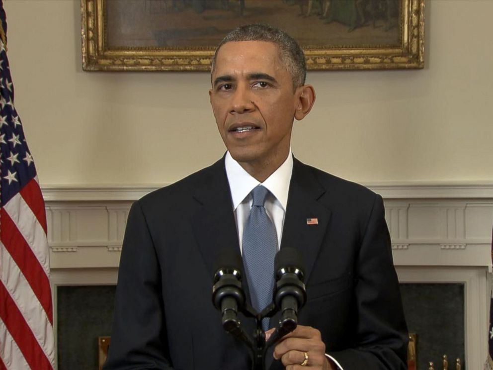 PHOTO: President Obama speaks about the release of Alan Gross and US-Cuba relations from Washington, Dec. 17, 2014.