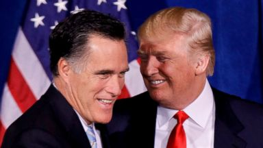 Mitt Romney accepts Trump's endorsement in campaign for Senate