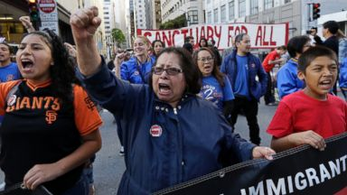 May Day protesters take to the streets for the rights of labor, women, immigrants