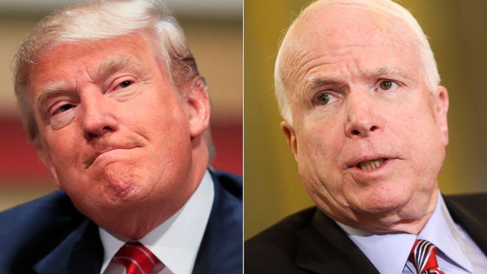 Image result for Donald Trump john McCain
