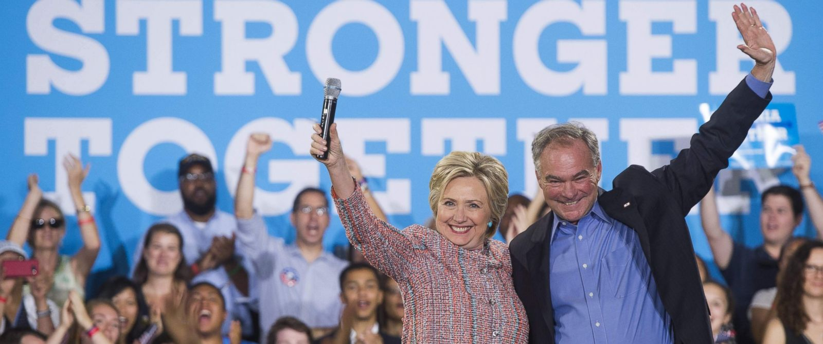 Image result for hillary clinton and tim kaine pictures
