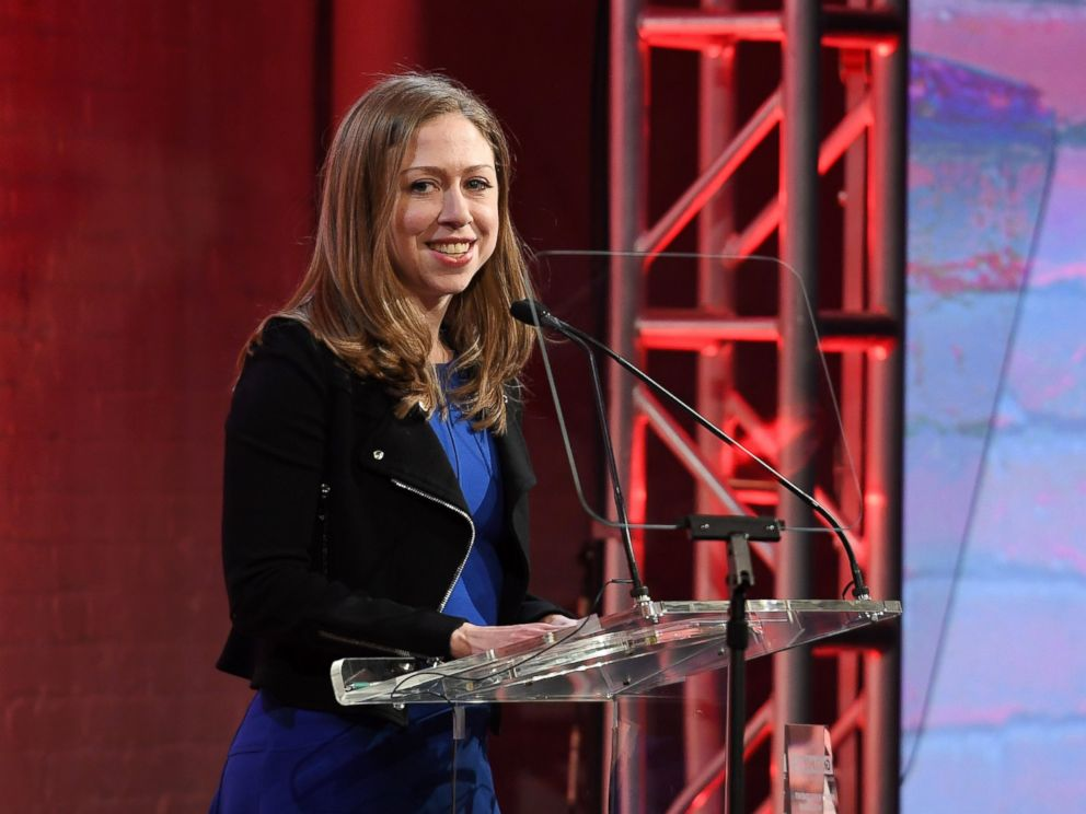 PHOTO: Chelsea Clinton speaks onstage at the GMHC 35th Anniversary Spring Gala at Highline Stages, on March 23, 2017, in New York City.