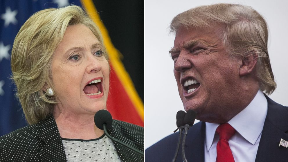 Image result for images of trump and hillary