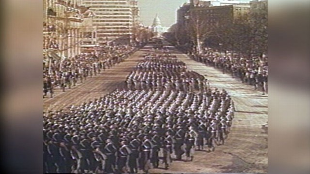 john f kennedys inauguration parade 1961 video abc news