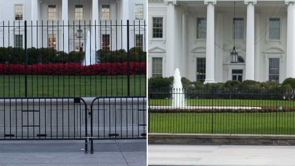 White House Security Fence Before And After Abc News
